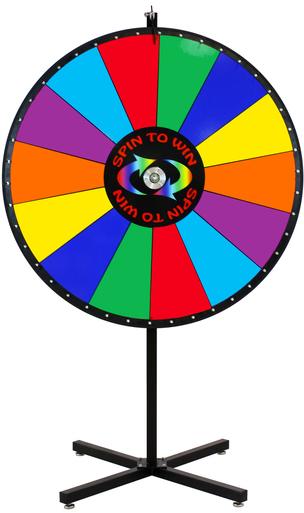 multicolored prize wheel