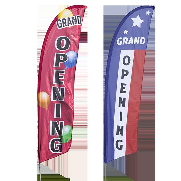Grand Opening Flags Vertical Message Banner Vispronet
