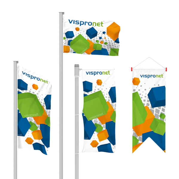 Advertising Flags | Best Prices | Vispronet