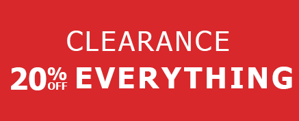 Save 20% by shopping our clearance category