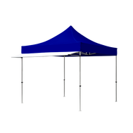 Shown here is our white tent awning in 10ft length, custom printing is also available.