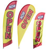 Now Open Feather Banner