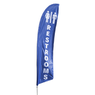 Restrooms Feather Flag Kit