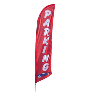 Point out parking lots to all of your customers with our Bowflag