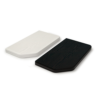 Tabletops are available in black and white
