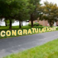 Congratulations Yard Letter Set