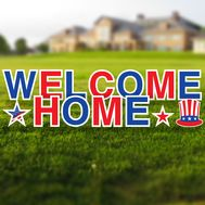 Welcome Home Military Yard Letters Set