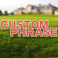 Custom Yard Letters Set