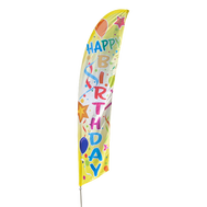Happy Birthday Feather Flag Kit