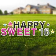 Happy Sweet 16 Yard Signs