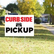 Curbside Pickup Yard Sign