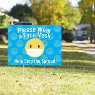 Please Wear a Face Mask Yard Sign