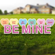 Be Mine Yard Letters