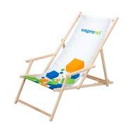 The Promotional Beach Chair with Arm Rest includes your custom graphic print and can hold up to 200 lbs