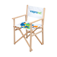 The Promotional Director's Chair with your custom graphic print is available in 2 material options