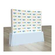 Pop Up Portable Booth Curved 7.4ft x 5ft with sides