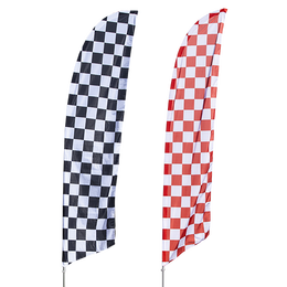 Checkered Feather Flag Kit