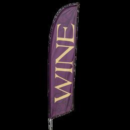 Wine Feather Flag Kit