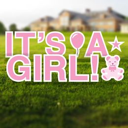 It's a Girl Yard Letters Set