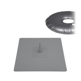 "Base Plate 16"" x 16"" with Surface Mount & Weight Bag 44lbs"
