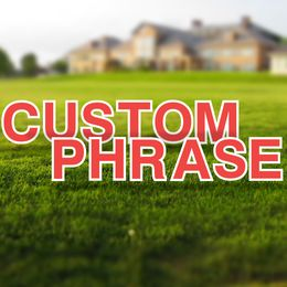 Custom Yard Letters Set