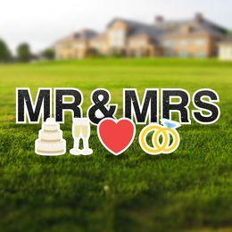 Mr & Mrs Yard Letter Signs