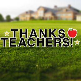 Thanks Teachers Yard Letters