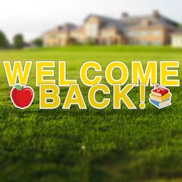 Welcome Back to School Yard Letters