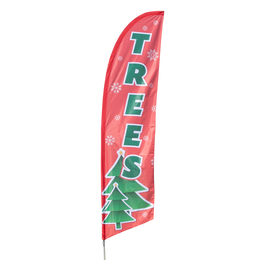 Christmas Trees Feather Flag