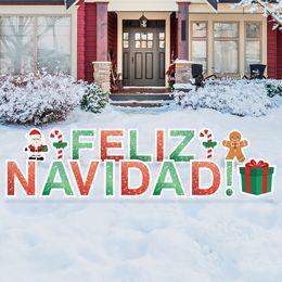 Feliz Navidad Yard Sign Letters