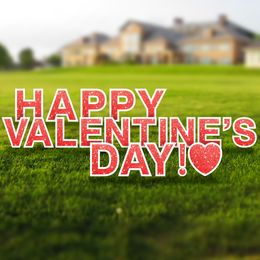 Happy Valentine's Day yard letters