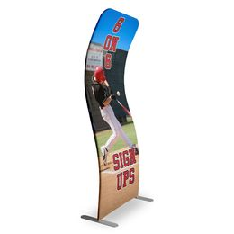 Cuved Stretch Banner Stand