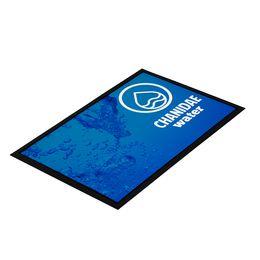High-resolution custom printed logo floor mats
