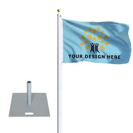 "Flagpole Standard with Base Plate 22"" x 22"""