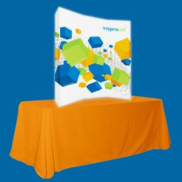 Backlit Pop Up Booth Curved 5.0ft x 5.0ft
