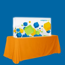 Backlit Pop Up Booth Straight 5.0ft x 2.5ft