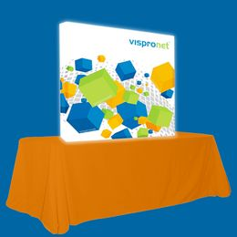 Backlit Pop Up Booth Straight 5.0ft x 5.0ft