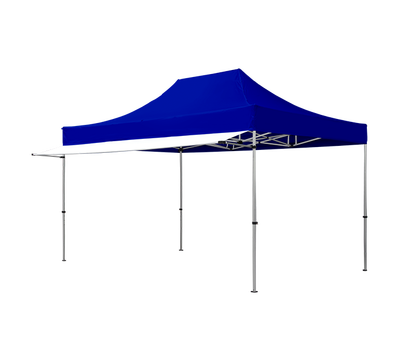 Shown here is our white tent awning in 15ft length, custom printing is also available.