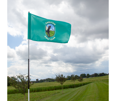 Flag rotates freely around the flagstick