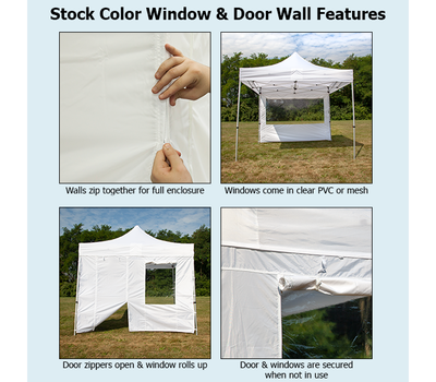 Stock color walls with windows and door features
