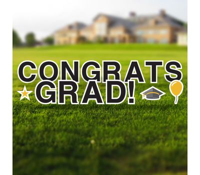 Congrats Grad Yard Letters Set