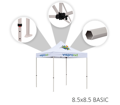 The features of the Basic tent frame option