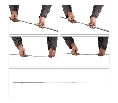 Assemble pole in four simple steps
