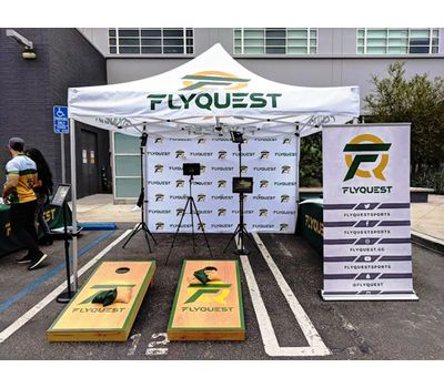 10x10 Logo Tent for eSports team, FlyQuest