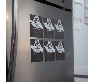 Magnets are vividly printed for noticeable advertising