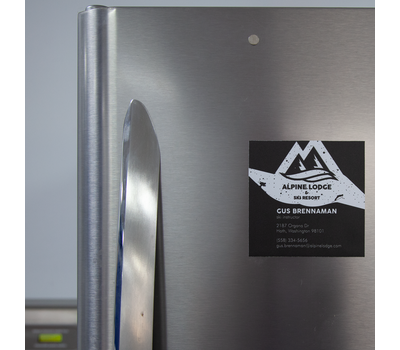 Magnets come ready to place onto fridge doors