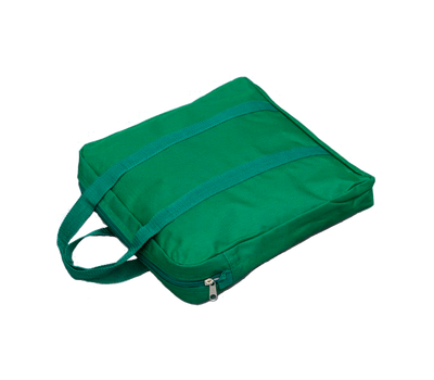 "Green polyester carrying case for Base Plate 7"" x 12"" or 12"" x 12"""