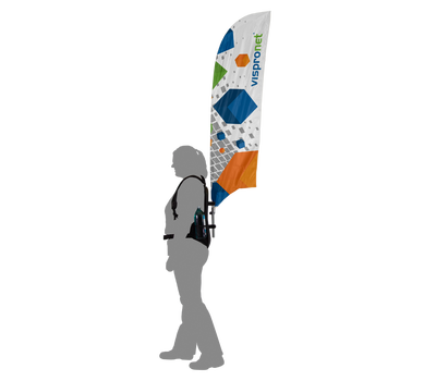 Backpack Feather Flag