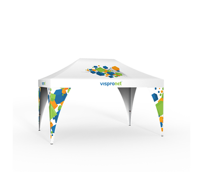 Medium Pop Up tent with 4 Pop Up Tent Leg Banners