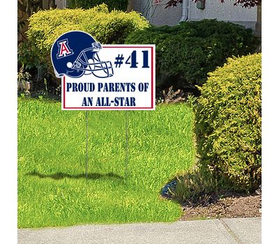 Proud of your star player or team? Showcase your fandom with a uniquely cut Custom Yard Sign